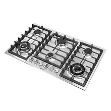 New Type 34  Stainless Steel 6 Burner Built In Stove NG Cooktops Home Cooker