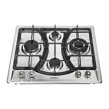 23  Kitchen Curve Stainless Steel Built In 4Burner NG LPG Gas Hob Cooktop Cooker