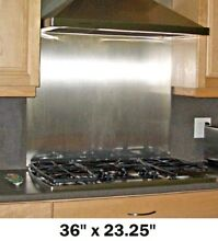 Stainless Steel Backsplash Range Hood Wall Shield w  Hemmed Edges 36in x 23 25in
