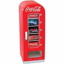 Coca Cola10 Can Retro Vending Fridge Home Office Car Boat red vintage glass door