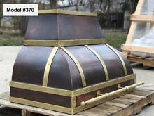 Copper Range Hood Incl  Motor  Brass Hood  Custom Hoods   Model  370