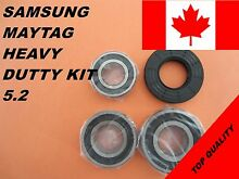 SAMSUNG FRONT LOAD WASHER 3 TUB BEARINGS AND SEAL  KIT   5 2 DC62 00156A