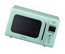 Daewoo Retro Microwave Oven 0 7 Cu Ft USB Port   ECO Plug  700w  Mint Green   Gr