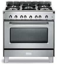 Verona Classic VCLFSGG365SS 36  Pro Style All Gas Range Oven Stainless Steel