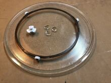 13 1 2  GE WB49X10114 Microwave Turntable   Plate Glass Tray Support WB06X10705