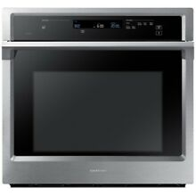 Samsung Steam Cook Self cleaning Convection Single Electric Wall Oven