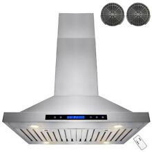 AKDY 30 in  Convertible Kitchen Island Mount Range Hood in Stainless Steel