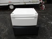 ONE  1  LG WDP3W g 27  Washer Dryer Pedestal White LG WITH NEW HARDWARE