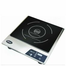 Max Burton Stainless Steel Deluxe Countertop Induction Cooktop Portable Burner