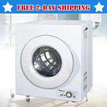 Front Load Electric Laundry Dryer Mini Compact Wall Mountable RV 2 6 CU FT White