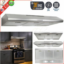 RANGE HOOD UNDER CABINET 36  Stainless Steel Push Control Panel Fan Kitchen Vent