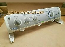 GE Washer console with Control Board WH12X10475 with end caps included
