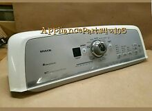 Maytag BRAVOS washer console complete with control board W10305452
