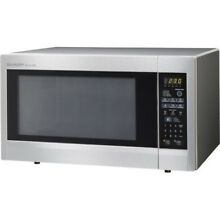 Sharp R651ZS Carousel Countertop Microwave Oven 2 2 cu  ft  1200W Stainless Stee