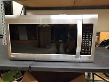 LG LMV2031ST 2 0 cu  ft  Over the Range Microwave Oven   Stainless Steel