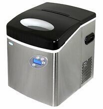 NewAir AI 215SS   Portable  Countertop Ice Maker   50 Lbs   Stainless Steel