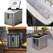 NewAir Stainless Steel 28lb  Portable Freestanding Countertop Ice Maker AI 100SS