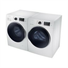 Samsung WHITE FRONT LOAD WASHER AND DRYER SET WW22K6822AW AND DV22K6800EW