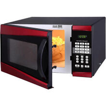 Microwave Oven Red 0 9 cu ft 900W Countertop Kitchen Office Dorm Hamilton Beach