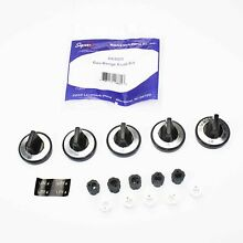 Supco RK203 Gas Burner Range Knob Kit   Includes 5 Knobs and 10 Inserts