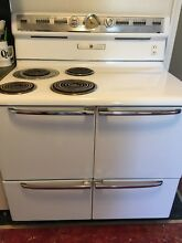 1950s General Electric Kitchen Stove EUC White Vintage Oven Range Antique