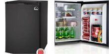Black Mini Small Fridge Refrigerator Single Door Home Office Garage Compact 2 6