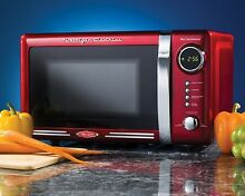 Microwave Oven Retro Red Office Countertop Kitchen Dorm Room Student Compact