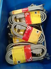 1 lot of 8  Woods 6 ft 3 Wire Gray Range Appliance Power Cord extra heavy duty