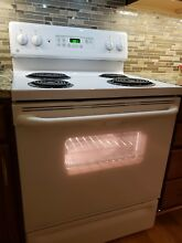 General electric oven  stove white 30   inch