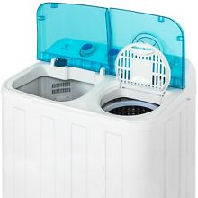 Best Choice Products Portable Mini Twin Tub Compact Washing Machine w  Spin Dry