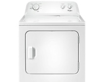 Whirlpool 7 0 cu  ft  120 Volt White Gas Vented Dryer with AUTODRY  WGD4616FW