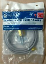 10 off GE UNIVERSAL 3 PRONG WIRE 30 amp 40A RANGE CORD POWER CABLE 4  LENGTH