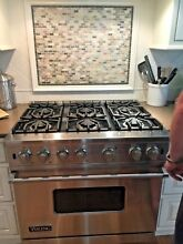 Viking 36 inch professional free standing gas sealed range with 6  burners