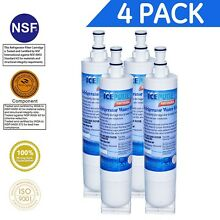 Icepure RWF0500A 4PACK Compatible With Whirlpool 4396508  4396510 Filter 5 ED
