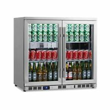 KingsBottle 169 Can 2 Door Under Counter Beverage Cooler with Heating Glass