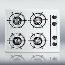 New in Box White 24  Gas 4 Burner CookTop Surface Unit Elec Ign   FREE Shipping
