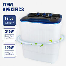 Mecor 13LBS Mini Compact Portable Washing Machine Twin Tub Laundry  Dryer