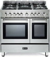 Verona VEFSGG365NDSS 36  Pro Style All Gas Range Double Oven Stainless Steel