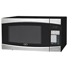 Oster Black Finish Stainless Steel Door 1 4 cu ft 1000 Watt Countertop Microwave
