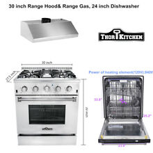 Thor range hoods 30 inch stainless steel gas range top 30 inch 24 Dishwasher
