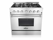 Thor Kitchen Gas Range 36  6 burners 36 Fridge LCD Range Hood Stainless Steel