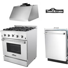 Thor Kitchen range hoods 30 inch stainless steel Gas Range Stove 24 Dishwasher