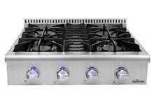 Thor Kitchen 30  Pro Style Gas Rangetop with 4 Sealed Burners Counter HRT3003U
