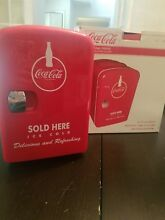 Coca Cola Coke Mini Refrigerator Cooler Compact 6 Can Fridge Portable Bar Office
