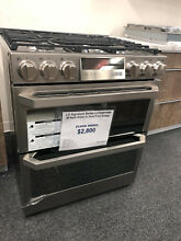 LG Signature Series LUTD4919SN 30 Inch Slide In Dual Fuel Range