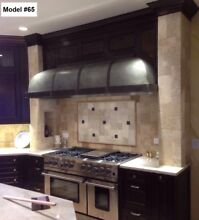 Zinc Range hood  Fan Included  All Custom Sizes and Metals Available   Model  65