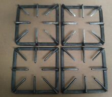 Used Frigidaire Gas Burner Range Grate  8 7 8  by 8 7 8    Set of Four  4  USED