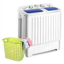Portable Mini Washing Machine 11 lbs Small Compact Twin Tub Washer Spinner New