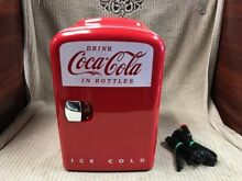 COCA COLA PERSONAL MINI FRIDGE RETRO STYLE FROM 2013 Free Shipping