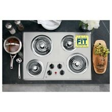 GE Electric Cooktop 30 in  Stainless Steel Coil Stove Dishwasher Safe Burner